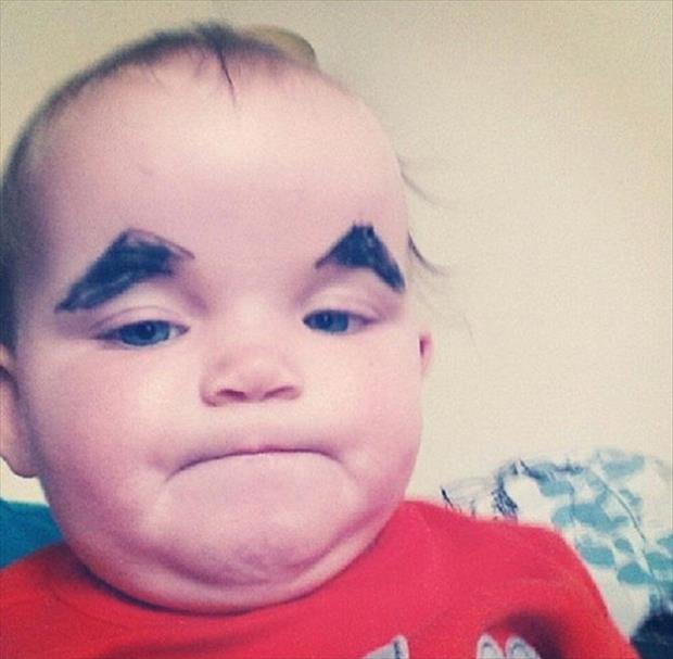 babies with eyebrows funny dumpaday (8)