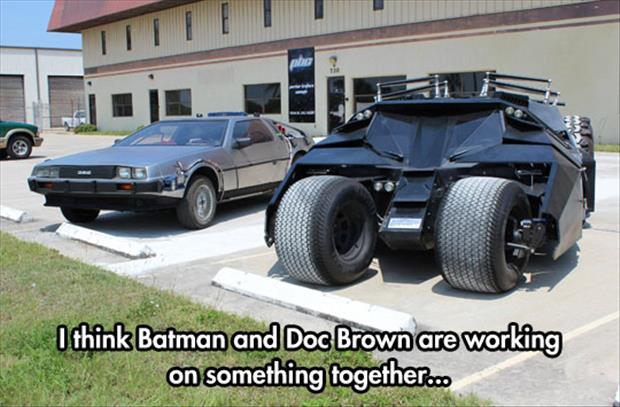 batman and doc brown