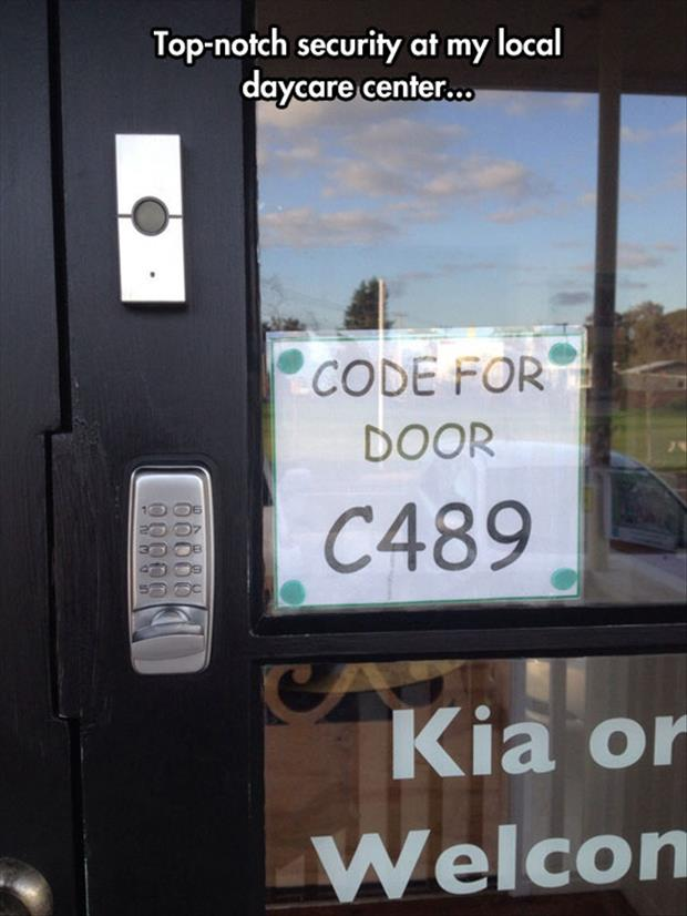 code for the door