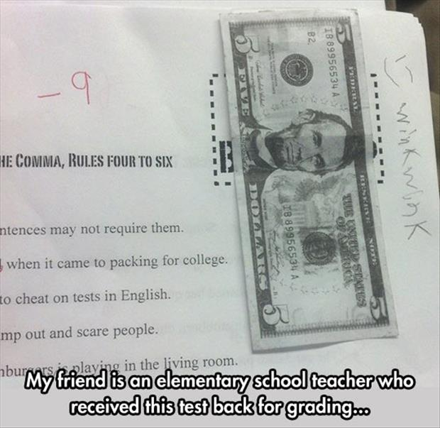 funny bribing the teacher