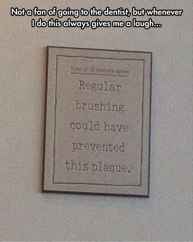 funny dentist signs
