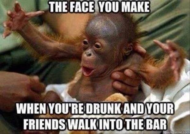 funny drunk face