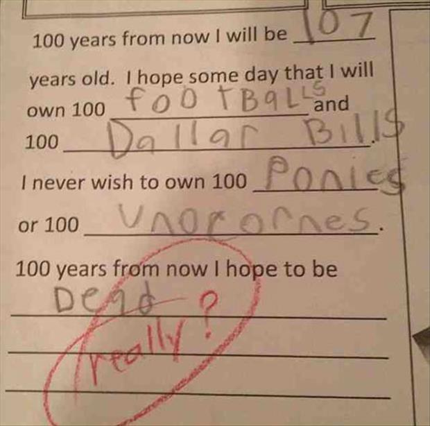 funny kid answers