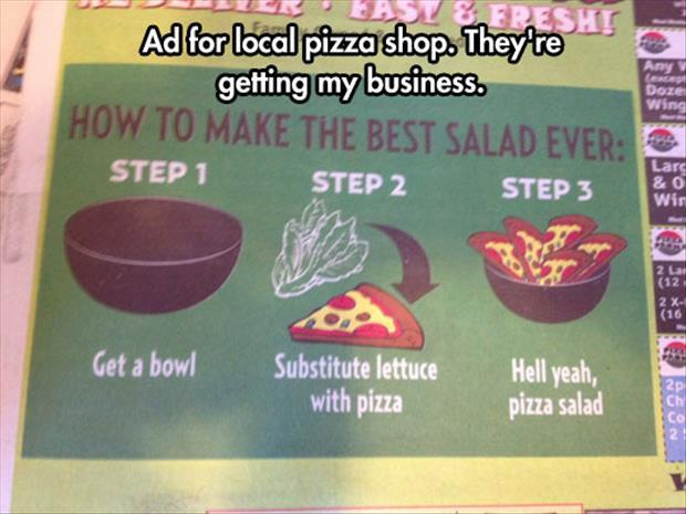 funny pizza signs