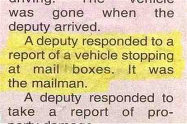 funny police reports