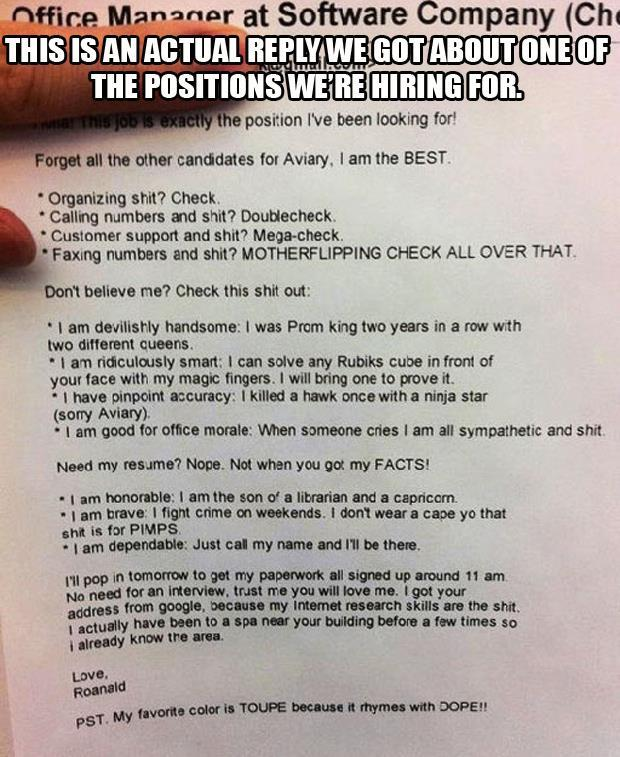 Bad Resume Examples For Students: Funny Pictures Of The Day