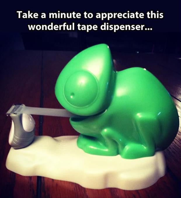 funny tape dispenser