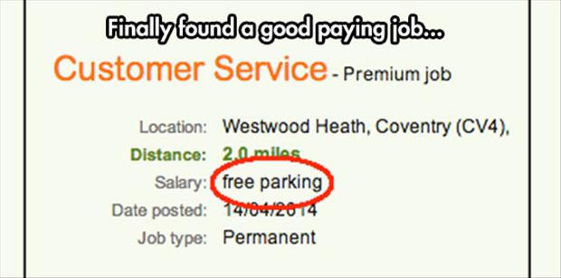 good paying job funny