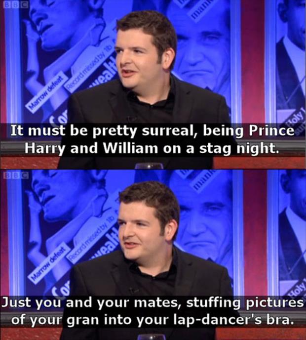 harry and william prince funny