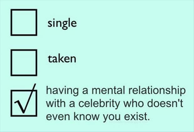 having a relationship with a celebrity
