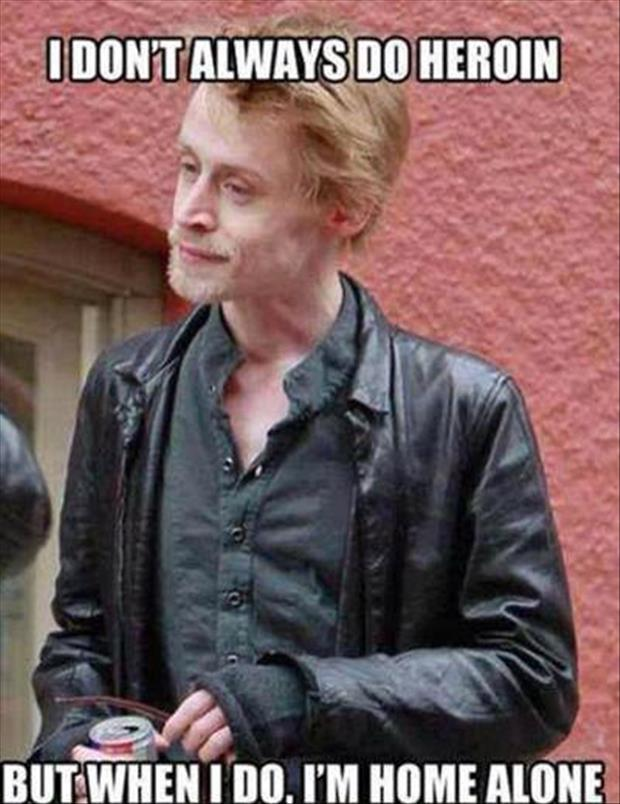 home alone guy doing drugs