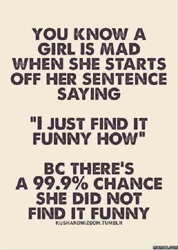 how to tell if a woman's mad