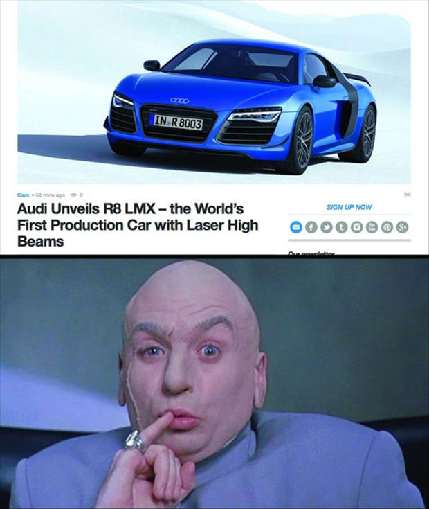 laser beams for headlights