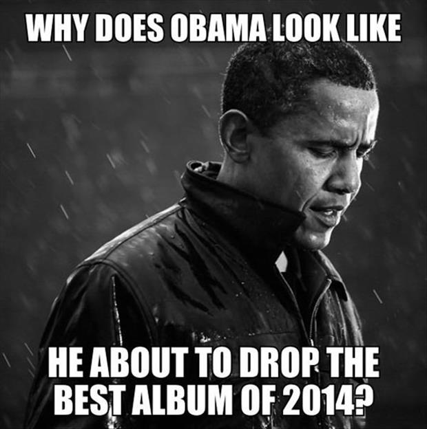 obama about to drop the beat