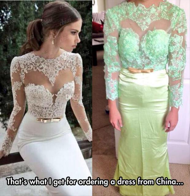 ordering a dress from china