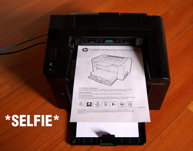 printer selfie