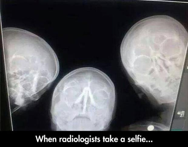 radiologists taking a selfie
