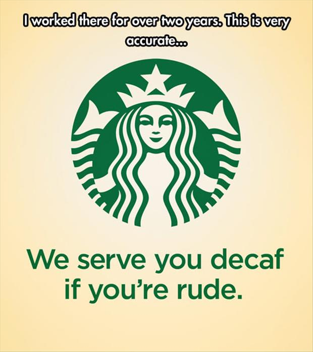 serving decaf coffee
