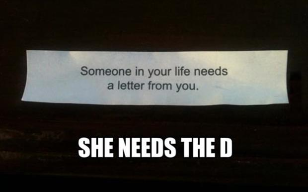 she needs the d