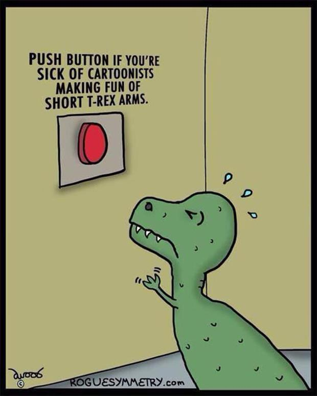 short t rex arms funny