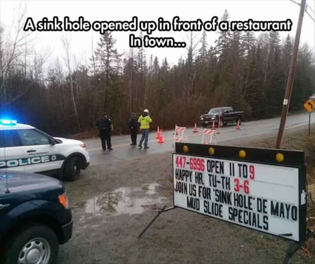 sink hole funny