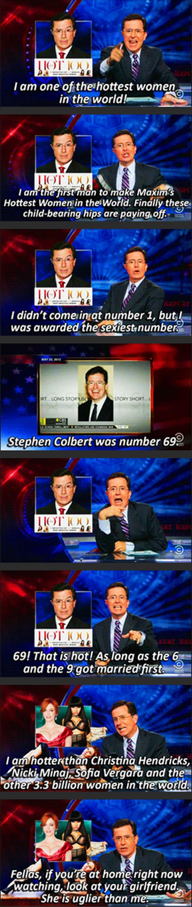 stephen colbert is sexiest woman