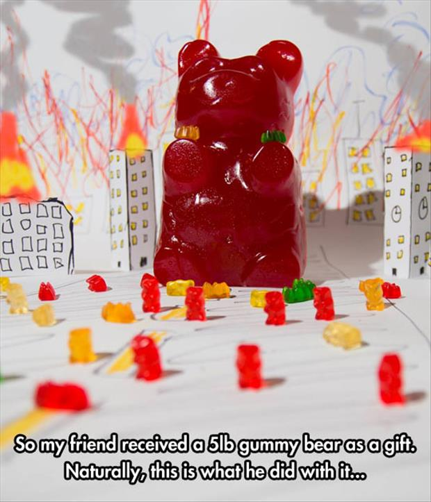 the five pound gummy bear