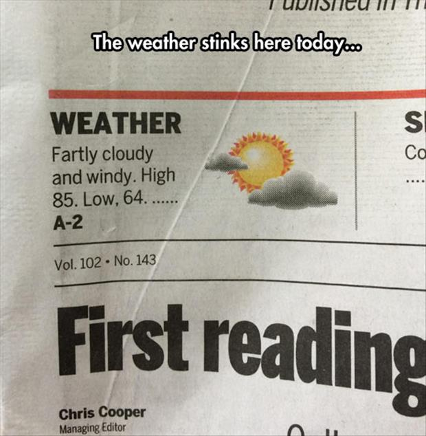the weather report funny