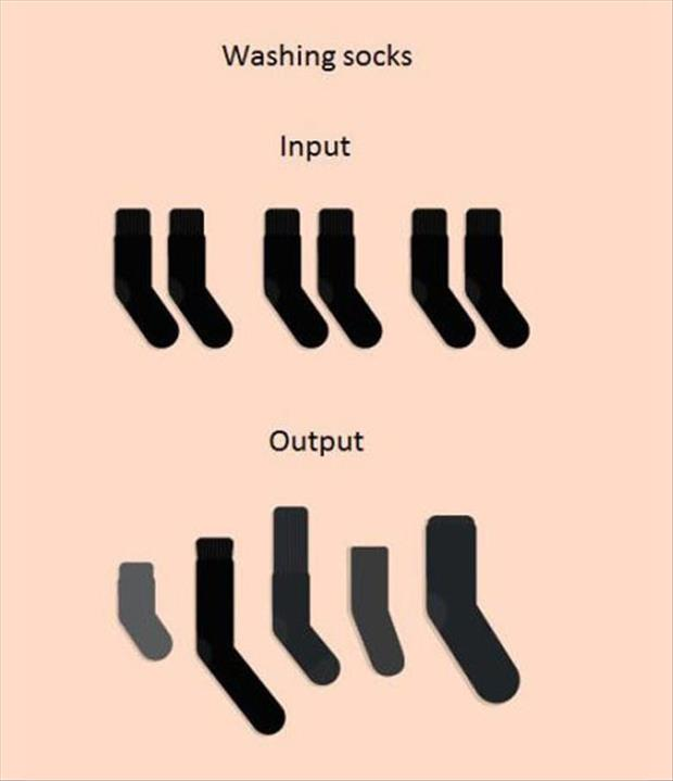 washing socks