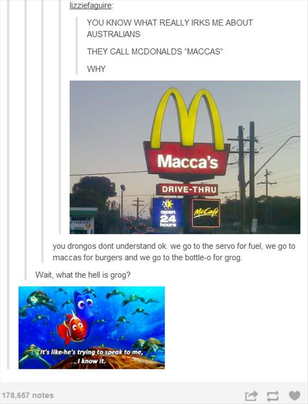what austrailians call McDonalds