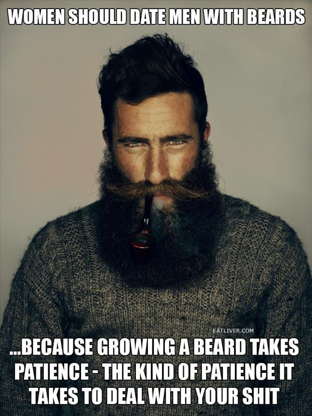 why women should date men with beards