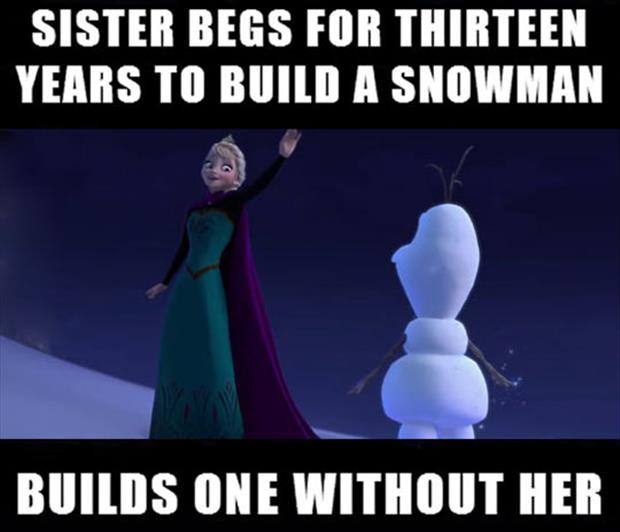 will you build a snowman with me