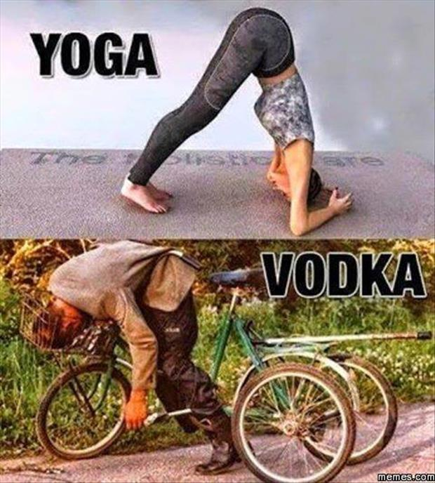 yoga vs vodka