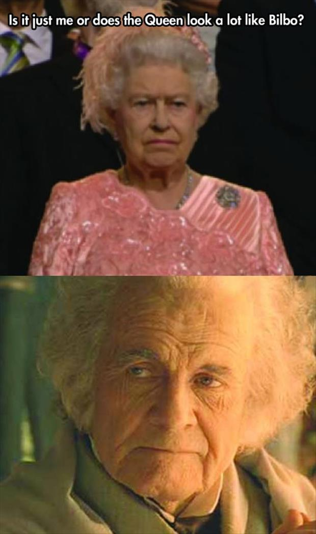 The queen looks like bilbo