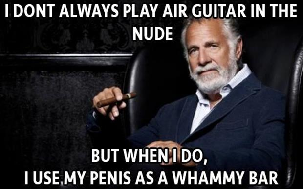 air guitar in the nude