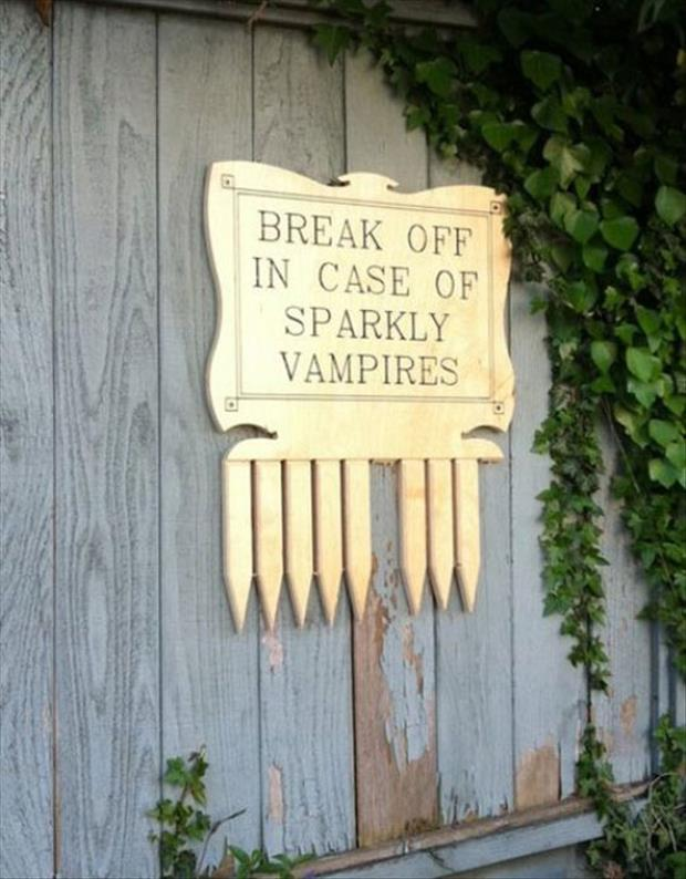break in case of vampires