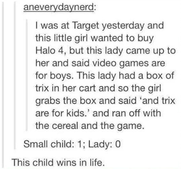 child wins at life