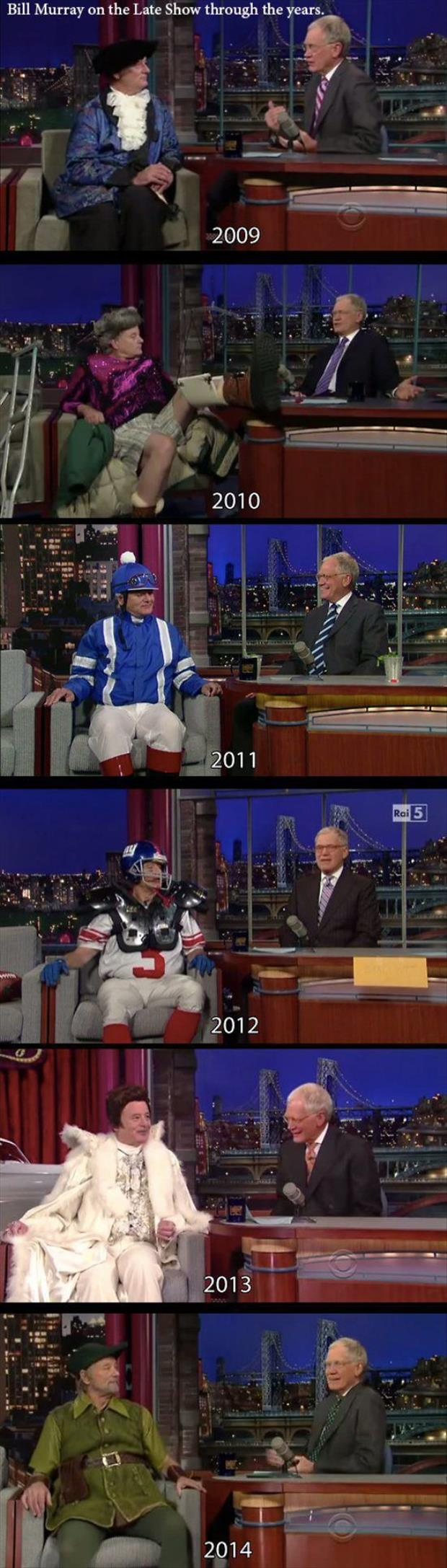 funny bill murray on the late show