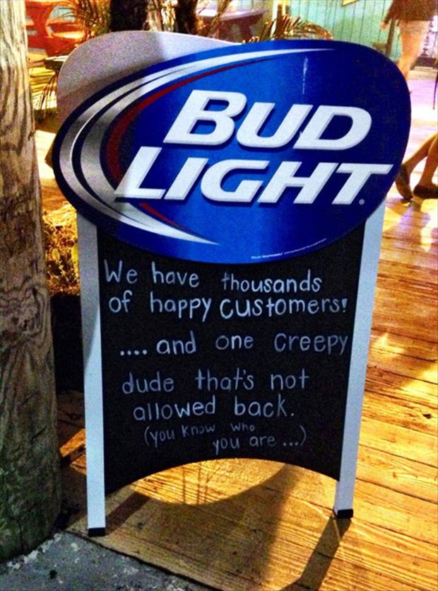 funny bud light sign