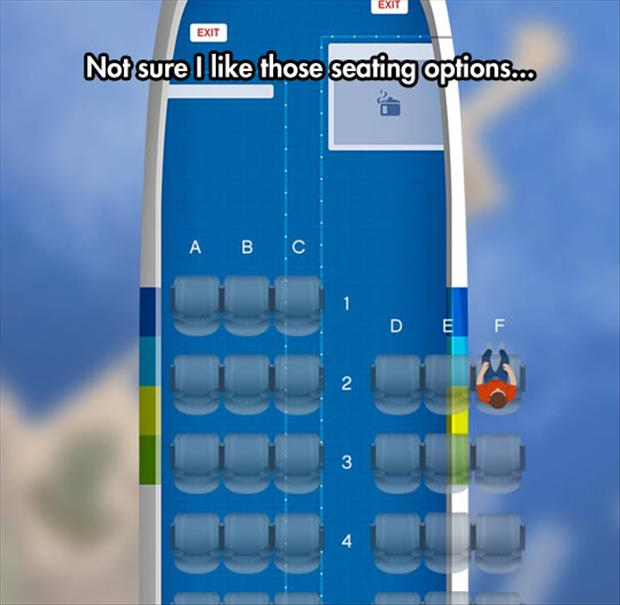 funny seating on planes