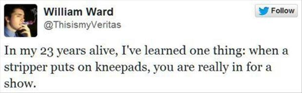 funny twitter quotes about strippers