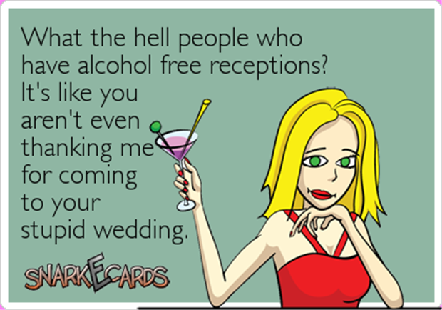 funny weddings with no alcohol