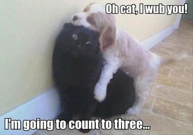 going to count to three