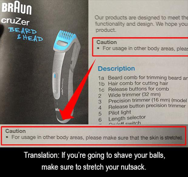 how to shave your balls