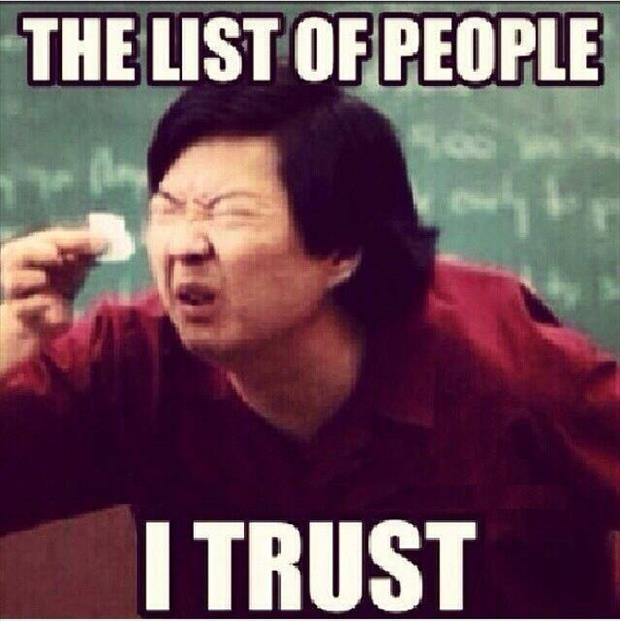 list of people I trust