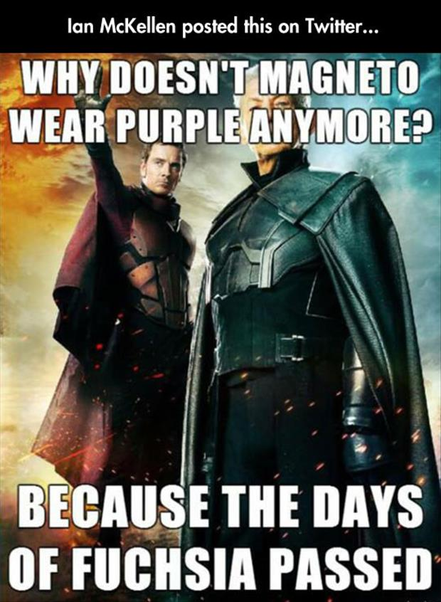 magneto in purple
