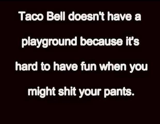 taco bell doesn't have a playground