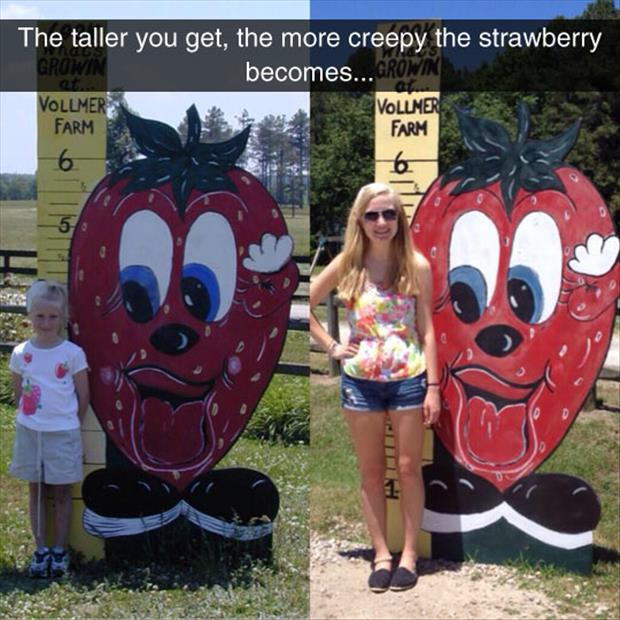 the creepy strawberry