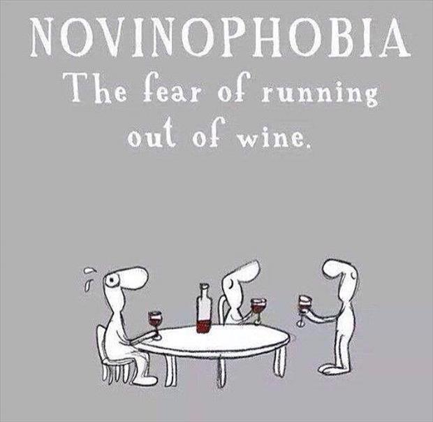 the fear of running out of wine