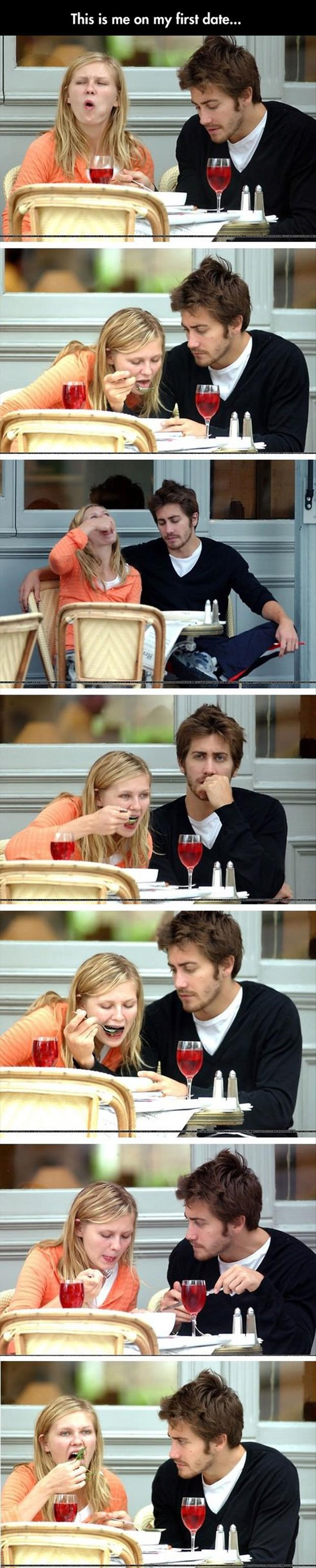 this is me on a first date